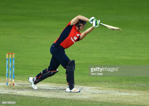 Keaton Jennings of The North bats during Game Two of the ECB North versus South Series at Dubai International Cricket Ground on March 19 2017 in...