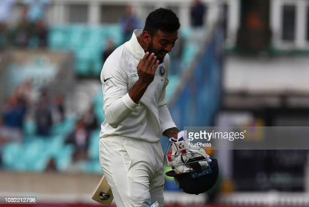 KeatonLRahul of India during International Specsavers Test Series 5th Test match Day Five between England and India at Kia Oval Ground London England...