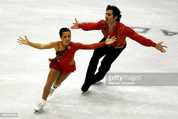 Keauna McLaughlin and Rockne Brubaker compete in the Free Skate during the Cancer.Net Skate America at Herb Brooks Arena on November 14, 2009 in Lake...