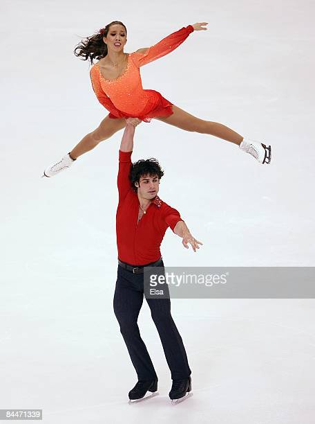 Keauna McLaughlin and Rockne Brubaker compete in the pairs free skate during the ATT US Figure Skating Championships on January 24 2009 at the...