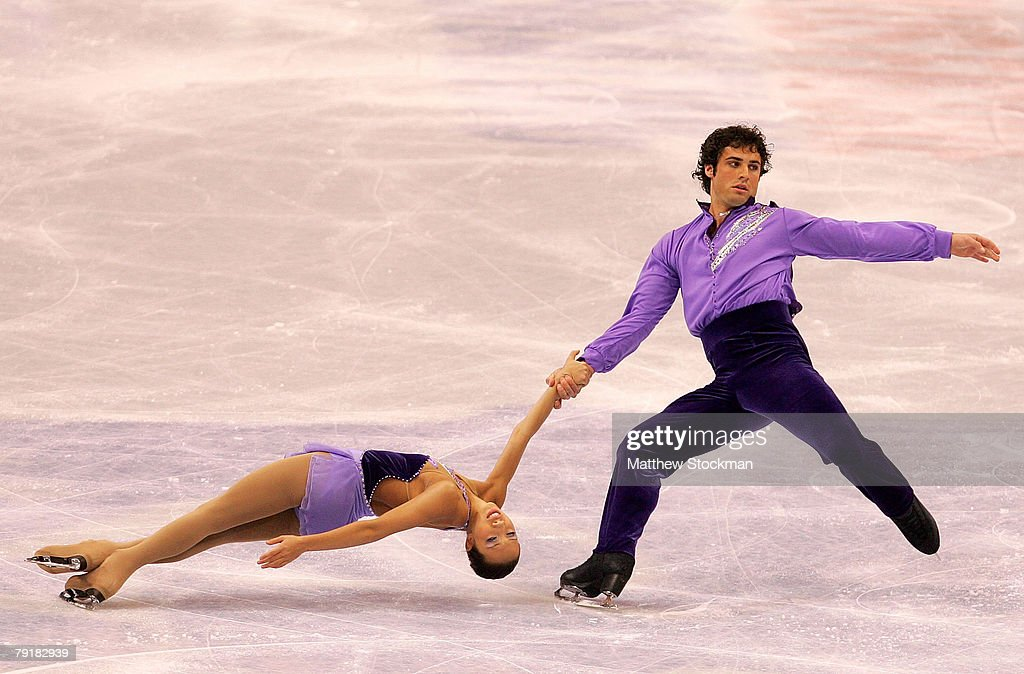 : Keauna McLaughlin and Rockne Brubaker compete in the pairs short program during the US Figure Skating Championships January 23, 2008 at the Xcel Energy Center in St Paul, Minnesota.