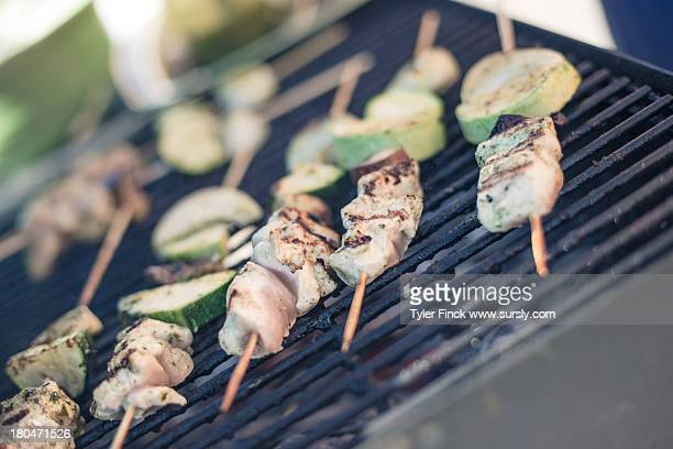 kebab on the grill - sursly stock pictures, royalty-free photos & images