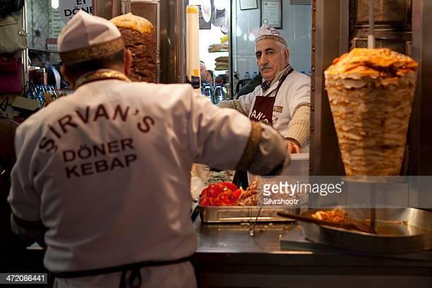 Kebap Shop in Istanbul Turkey