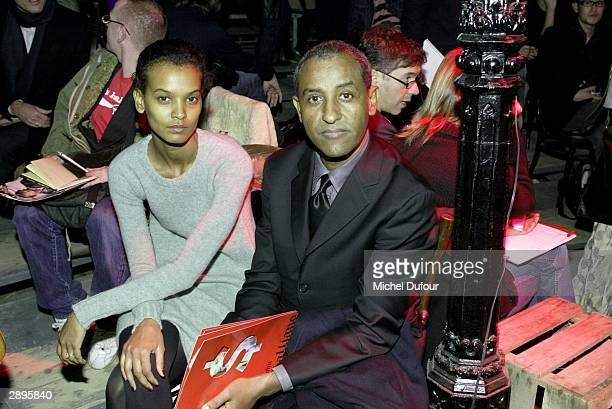Kebede and her husband attends the John Galliano 2004 Spring/Summer Collection on January 23 2004 in Paris France