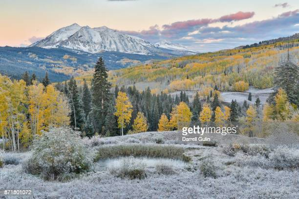 Kebler Pass fresh snows sunrise