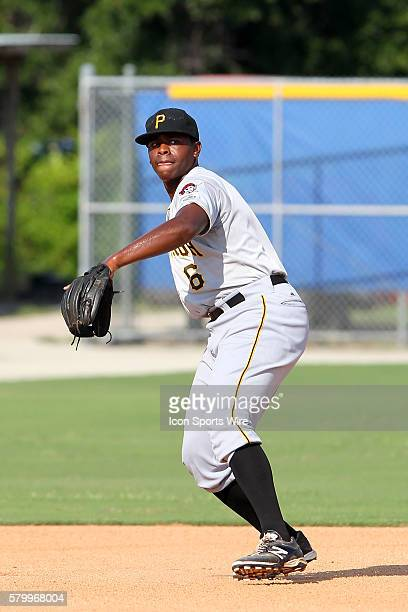 KeBryan Hayes of the Pirates during the Gulf Coast League game between the GCL Pirates and the GCL Blue Jays at the Bobby Mattick Training Center in...