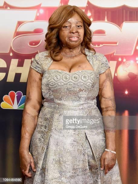 Kechi Okwuchi arrives at America's Got Talent The Champions Finale at Pasadena Civic Auditorium on October 17 2018 in Pasadena California