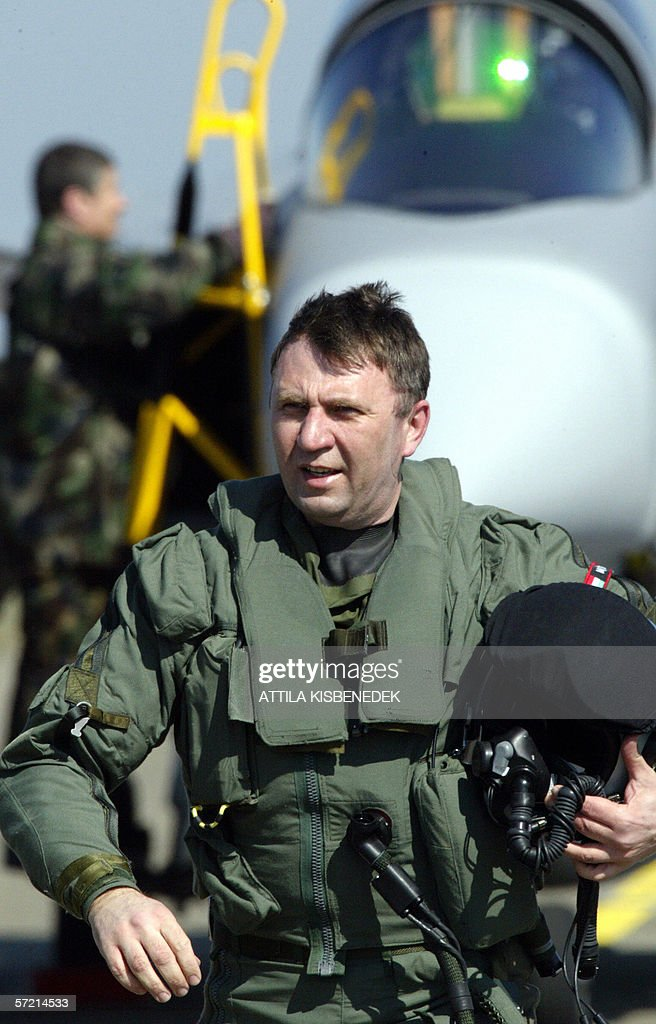 The chief pilot of the Hungarian Air Force, Lieutenant