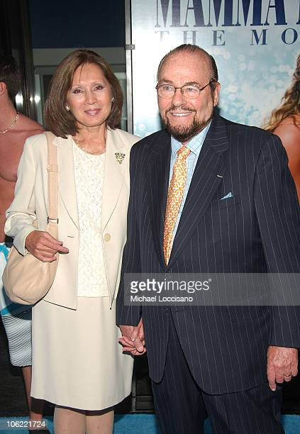 Kedakai Turner and husband TV personality James Lipton attends the premiere of Mamma Mia at the Ziegfeld Theatre on July 16 2008 in New York City