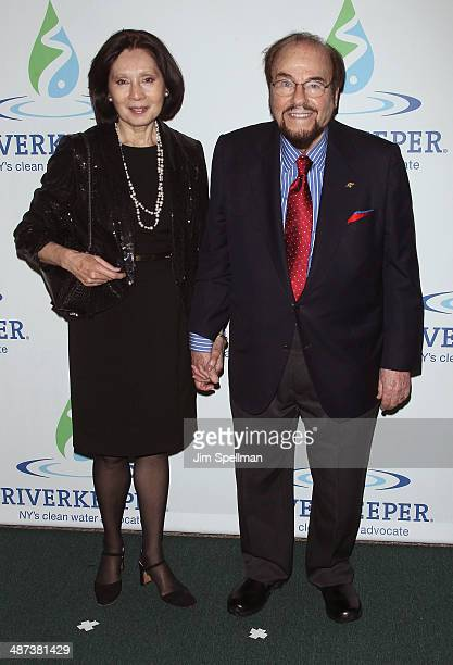 Kedakai Turner and James Lipton attend the 2014 Riverkeeper Fishermen's Ball at Pier Sixty at Chelsea Piers on April 29 2014 in New York City