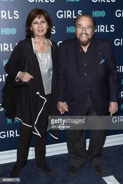 Kedakai Turner and James Lipton attend the the New York premiere of the sixth and final season of Girls at Alice Tully Hall Lincoln Center on...