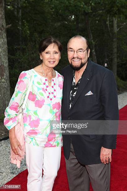 Kedakai Turner Lipton and TV Personality James Lipton attend the ELLE 25 Summer Cocktail Celebration hosted by Robbie Myers on August 20 2011 in...