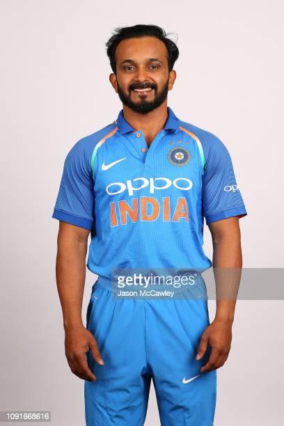 Kedar Jadhav poses during the India Men's ODI Headshots Session on January 09 2019 in Sydney Australia