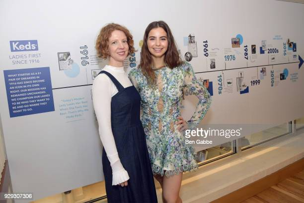 Keds CMO Emily Culp and Violetta Komyshan celebrate International Women's Day with Keds at Manhattan Plaza Racquet Club on March 8 2018 in New York...