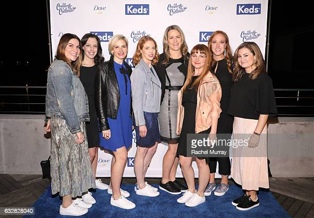 Keds team members Jody Kindred Lindsey Binette Meredith Willson Keds President Gillian Meek Holly Curtis Ashley Chambers and Alex Green attend Create...