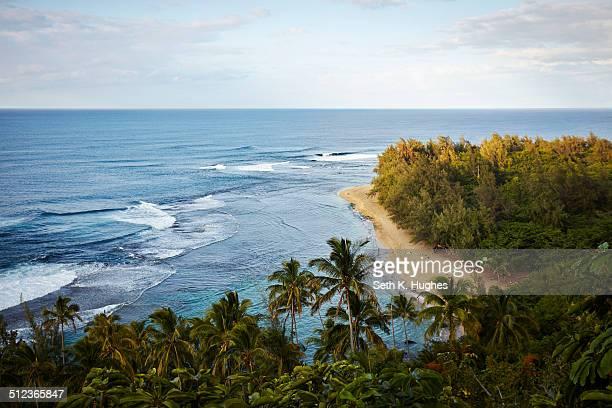 ke'e beach, na pali coast, kaua'i, hawaii, usa - na pali stock photos and pictures