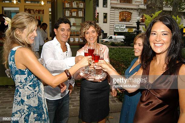 Kee Edwards Mauro Gomes Angelica Gomes and Jennifer Pfeiffer attend Magnolia Opens First Couture Flower / Plant Kiosk In Bryant Park at Magnolia...