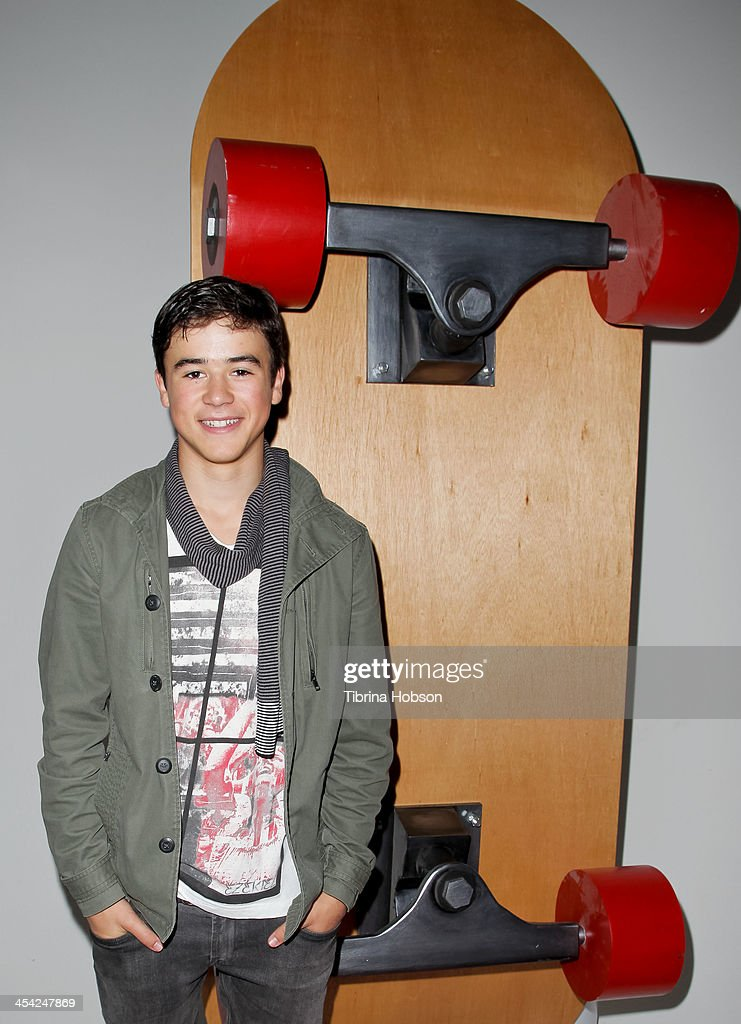 Keean Johnson attends the DreamWorks Animation's 'Turbo FAST' premiere at 'The Lot' on December 7, 2013 in West Hollywood, California.
