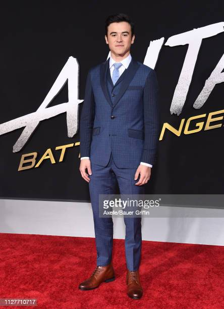 Keean Johnson attends the premiere of 20th Century Fox's 'Alita Battle Angel' at Westwood Regency Theater on February 05 2019 in Los Angeles...
