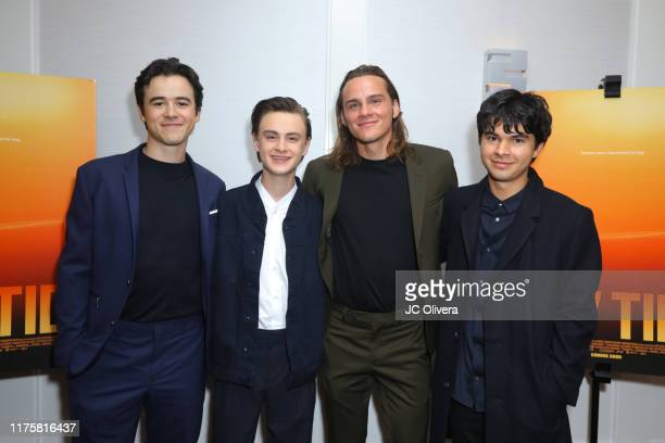 Keean Johnson, Jaeden Martell, Alex Neustaedter and Daniel Zolghadri attend a special screening of A24's 'Low Tide' at The London Hotel on September...