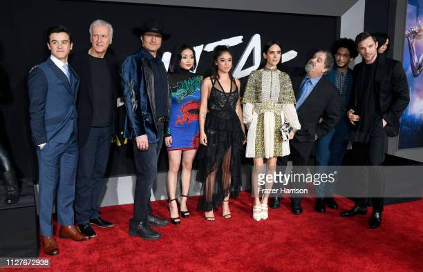 Keean Johnson James Cameron Robert Rodriguez Lana Condor Rosa Salazar Jennifer Connelly Jon Landau Jorge Lendeborg Jr and Ed Skrein attend the...