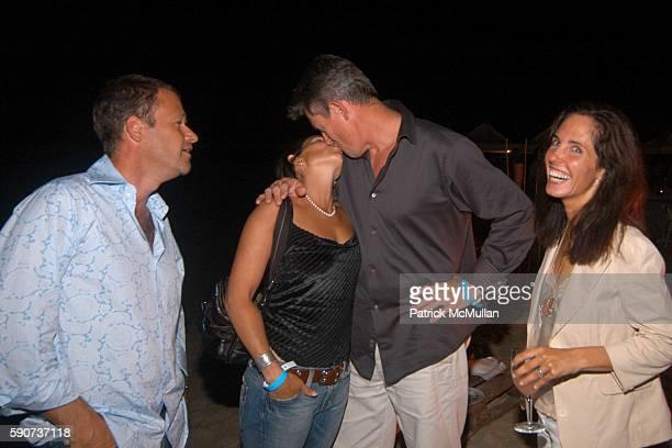 Keeche Labelle Gail Dunnett Warrick Dunnett and Elizabeth Harrison attend Hamptons Film Festival Elle Magazine Host a Beach Dinner Following the...