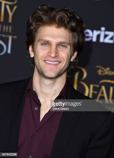 Keegan Allen arrives a the Premiere Of Disney's 'Beauty And The Beast' at El Capitan Theatre on March 2 2017 in Los Angeles California