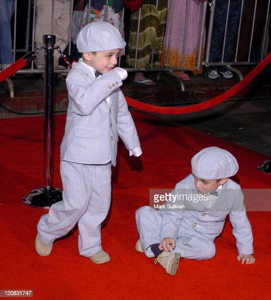 Keegan and Logan Hoover during The Pacifier Los Angeles Premiere Arrivals at The El Capitan in Hollywood California United States