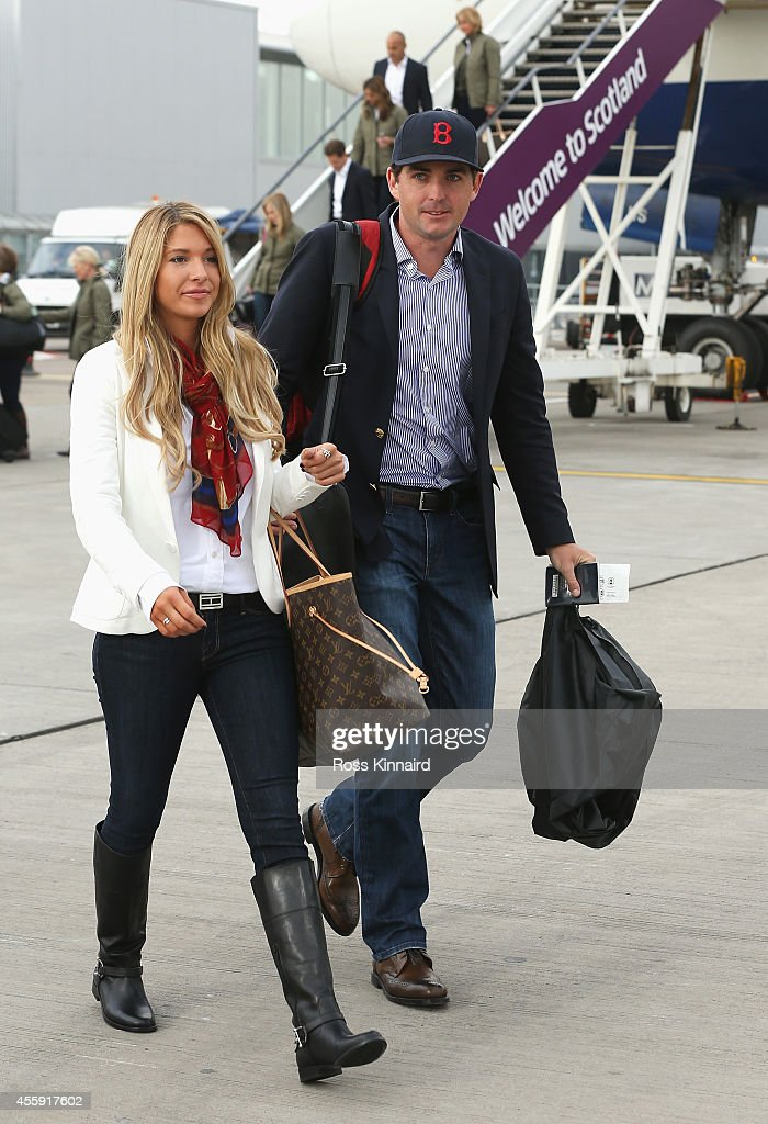 USA Team Arrival At Edinburgh Airport - 2014 Ryder Cup : News Photo