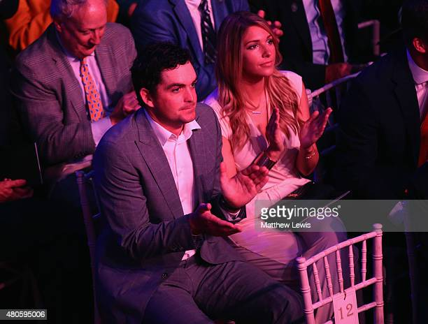 Keegan Bradley of the United States and partner Jillian Stacey attend the World Golf Hall of Fame Induction at St Andrews University on July 13 2015...