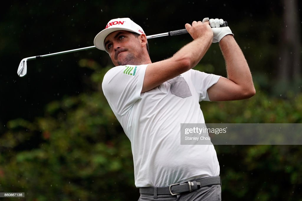 Keegan Bradley of the United States in action during round two of the 2017 CIMB Classic at TPC Kuala Lumpur on October 13, 2017 in Kuala Lumpur, Malaysia.