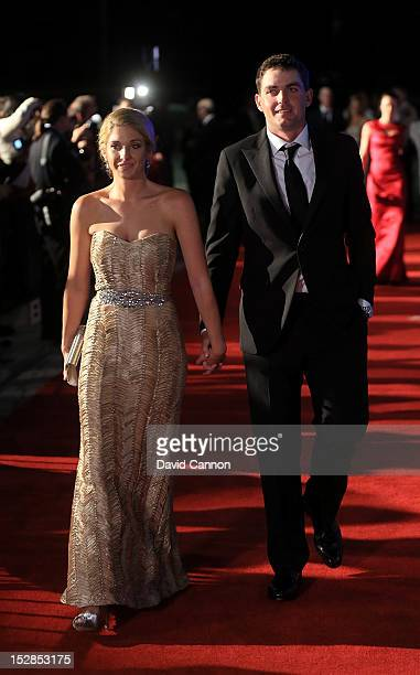 Keegan Bradley of the USA and his partner Jillian Stacey attend the 39th Ryder Cup Gala at Akoo Theatre at Rosemont on September 26 2012 in Rosemont...