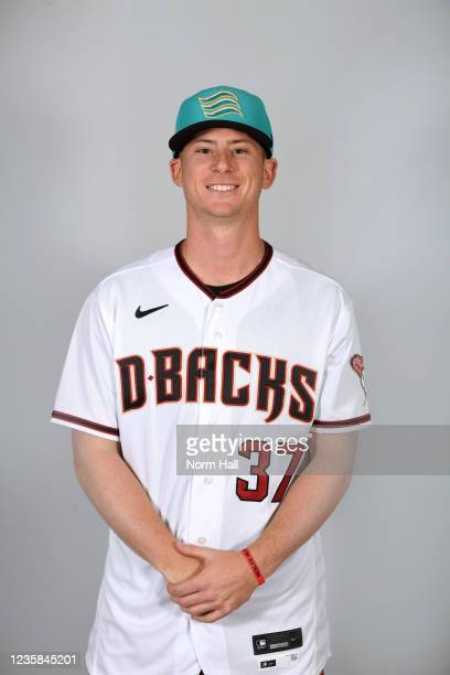 Keegan Curtis of the Salt Rive Rafters poses for a headshot during the 2021 Arizona Fall League Headshots at Salt River Fields at Talking Stick on...
