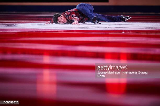 Keegan Messing of Canada performs in the Gala Exhibition during day five of the ISU World Figure Skating Championships at Ericsson Globe on March 28,...