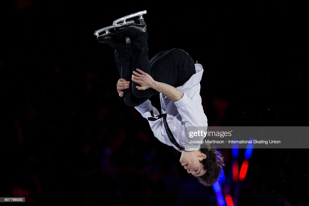 Keegan Messing of Canada performs in the Gala Exhibition during day five of the World Figure Skating Championships at Mediolanum Forum on March 25, 2018 in Milan, Italy.