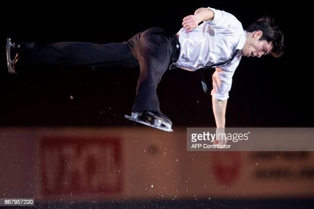 Keegan Messing of Canada skates his exhibition program at the ISU Grand Prix of Figure Skating's Skate Canada International at Brandt Centre in...