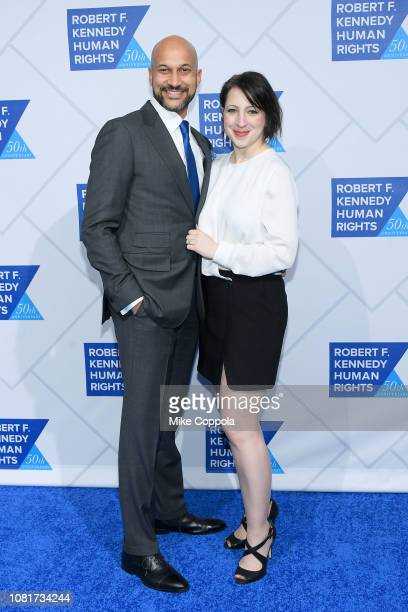 Keegan Michael Key and Elisa Pugliese attend the 2018 Robert F Kennedy Human Rights' Ripple Of Hope Awards at New York Hilton Midtown on December 12...