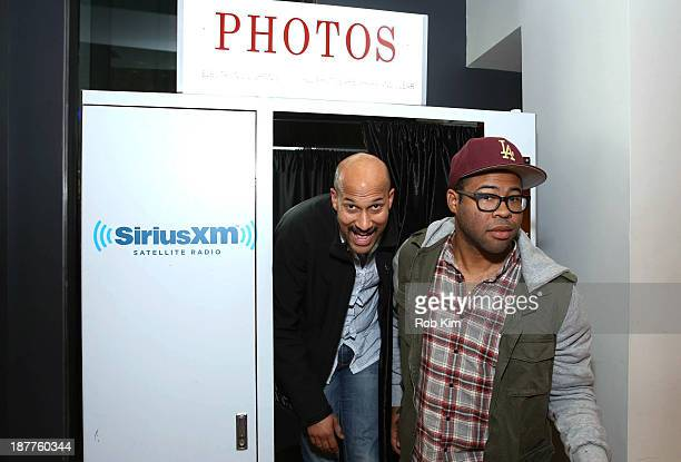 Keegan Michael Key and Jordan Peele of Key Peele visit at SiriusXM Studios on November 12 2013 in New York City