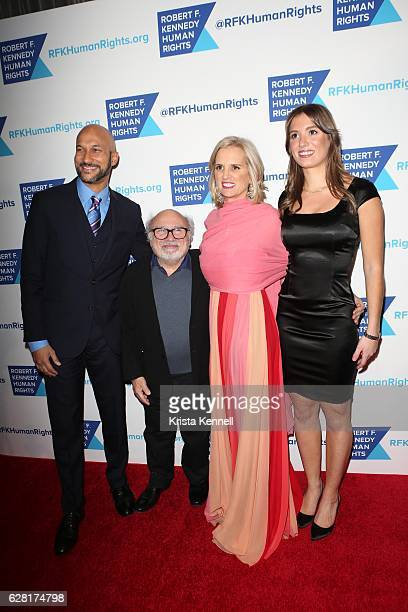 Keegan Michael Key Danny DeVito Kerry Kennedy and Mariah Kennedy attend the Robert F Kennedy Human Rights 2016 Ripple of Hope Award at New York...