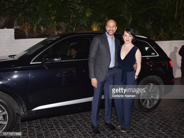 Keegan MichaelKey and Elisa Pugliese attend Audi Arrivals at W Magazine's Best Performances Party at Chateau Marmont on January 4 2019 in Los Angeles...