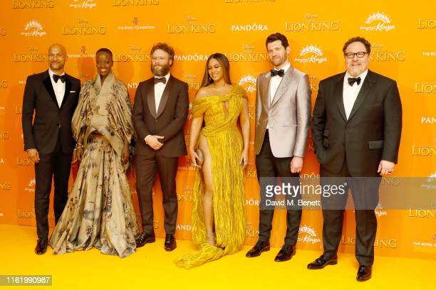 Keegan MichaelKey Florence Kasumba Seth Rogen Beyonce Billy Eichner and Jon Favreau attend the European Premiere of The Lion King at Odeon Luxe...