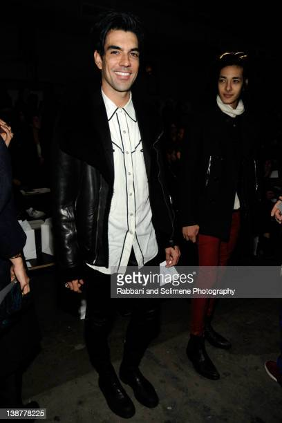 Keegan Singh attends the Alexander Wang Fall 2012 fashion show during MercedesBenz Fashion Week at Pier 94 on February 11 2012 in New York City