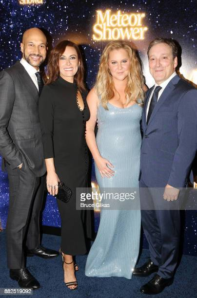 KeeganMichael Key Amy Schumer Laura Benanti and Jeremy Shamos pose at the opening night party for Steve Martin's new play Meteor Shower on Broadway...