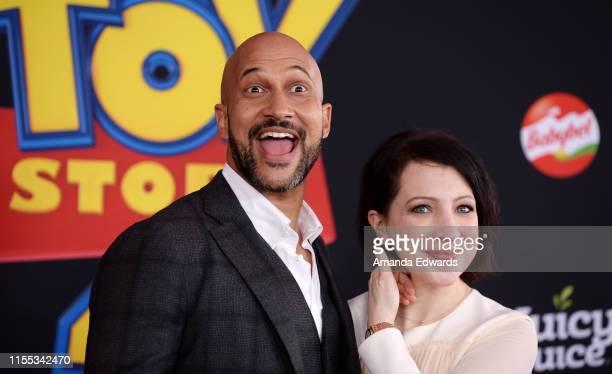 "Keegan-Michael Key and Elisa Key arrive at the premiere of Disney and Pixar's ""Toy Story 4"" on June 11, 2019 in Los Angeles, California."