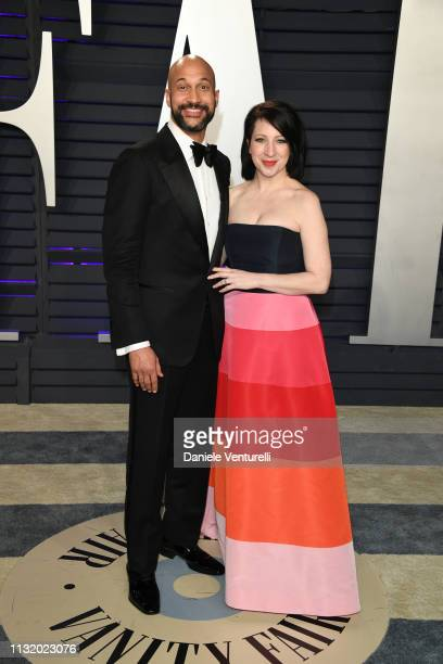 KeeganMichael Key and Elisa Pugliese attend 2019 Vanity Fair Oscar Party Hosted By Radhika Jones at Wallis Annenberg Center for the Performing Arts...