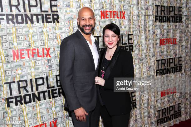 KeeganMichael Key and Elisa Pugliese attend Netflix World Premiere of TRIPLE FRONTIER at Lincoln Center on March 03 2019 in New York City