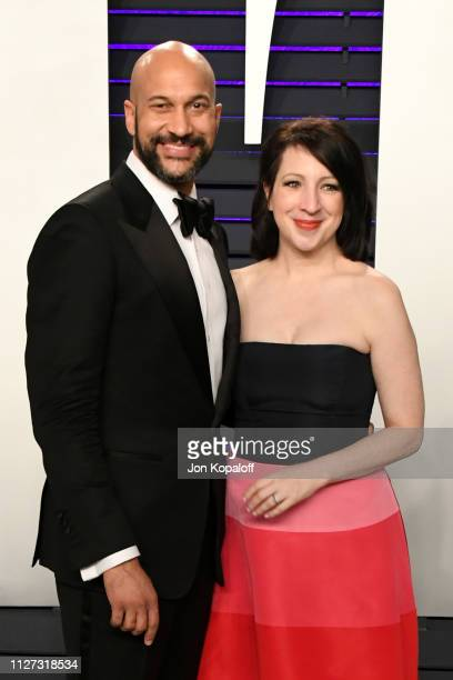 KeeganMichael Key and Elisa Pugliese attend the 2019 Vanity Fair Oscar Party hosted by Radhika Jones at Wallis Annenberg Center for the Performing...