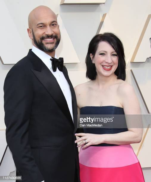 KeeganMichael Key and Elisa Pugliese attend the 91st Annual Academy Awards at Hollywood and Highland on February 24 2019 in Hollywood California