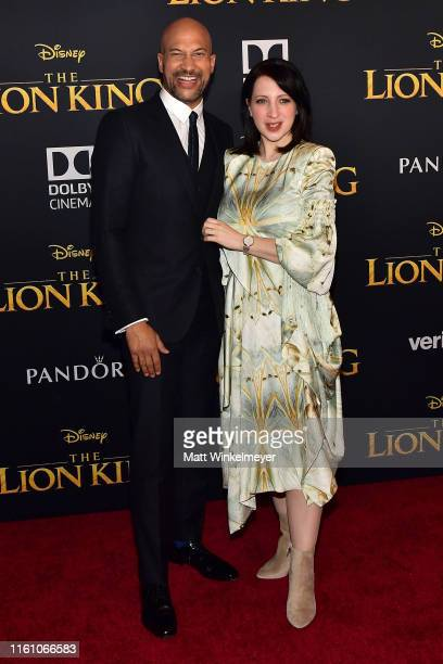 KeeganMichael Key and Elisa Pugliese attend the premiere of Disney's The Lion King at Dolby Theatre on July 09 2019 in Hollywood California