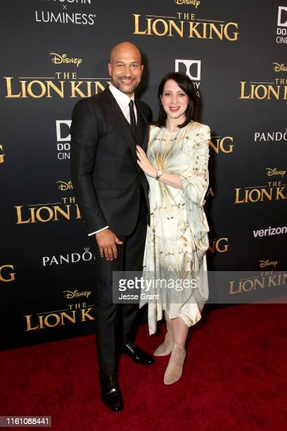 KeeganMichael Key and Elisa Pugliese attend the World Premiere of Disney's THE LION KING at the Dolby Theatre on July 09 2019 in Hollywood California